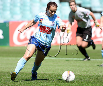 Servet Uzunlar - Sydney F.C - Action from Westfield W-League Round 5 match between Sydney F.C and Adelaide United played at the Sydney Football Stadium on the 1st November 2009. The match was won by Sydney F.C 6-0 (PHOTO: ROB SHEELEY - SMP IMAGES) These images are intended for editorial use only (e.g. news or commentary print or electronic). Any commercial or promotional use requires additional clearance.