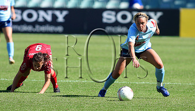 Cathrine Paaske - Sydney F.C - Action from Westfield W-League Round 5 match between Sydney F.C and Adelaide United played at the Sydney Football Stadium on the 1st November 2009. The match was won by Sydney F.C 6-0 (PHOTO: ROB SHEELEY - SMP IMAGES) These images are intended for editorial use only (e.g. news or commentary print or electronic). Any commercial or promotional use requires additional clearance.