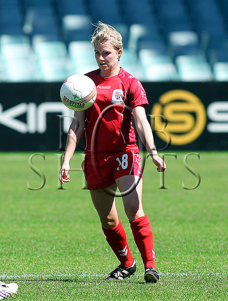 Rochelle Kuhar - Adelaide United - Action from Westfield W-League Round 5 match between Sydney F.C and Adelaide United played at the Sydney Football Stadium on the 1st November 2009. The match was won by Sydney F.C 6-0 (PHOTO: ROB SHEELEY - SMP IMAGES) These images are intended for editorial use only (e.g. news or commentary print or electronic). Any commercial or promotional use requires additional clearance.