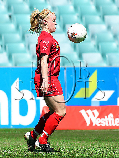 Karina Roweth - Adelaide United - Action from Westfield W-League Round 5 match between Sydney F.C and Adelaide United played at the Sydney Football Stadium on the 1st November 2009. The match was won by Sydney F.C 6-0 (PHOTO: ROB SHEELEY - SMP IMAGES) These images are intended for editorial use only (e.g. news or commentary print or electronic). Any commercial or promotional use requires additional clearance.