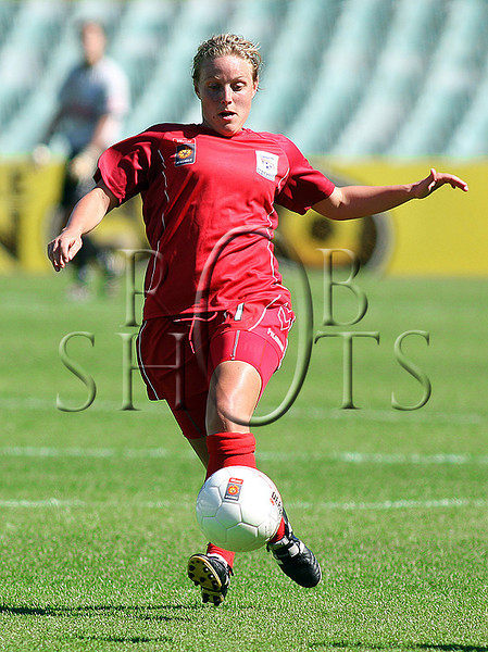 Georgina Chapman - Adelaide United - Action from Westfield W-League Round 5 match between Sydney F.C and Adelaide United played at the Sydney Football Stadium on the 1st November 2009. The match was won by Sydney F.C 6-0 (PHOTO: ROB SHEELEY - SMP IMAGES) These images are intended for editorial use only (e.g. news or commentary print or electronic). Any commercial or promotional use requires additional clearance.