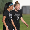 PORTLAND, OR - SEPTEMBER 13, 2017:  Jesuit Crusaders JV2-Green Women's Soccer vs. the  Beaverton Beavers at Beaverton High School in Beaverton, Oregon