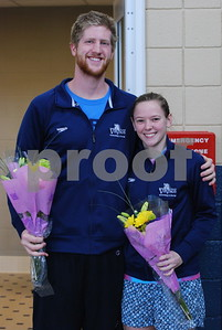 Seniors Alan Campbell and Kayla Sanner