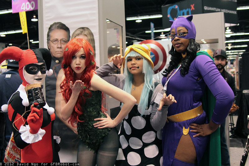 Harley Quinn, Poison Ivy, Eruka Frog, and Catwoman
