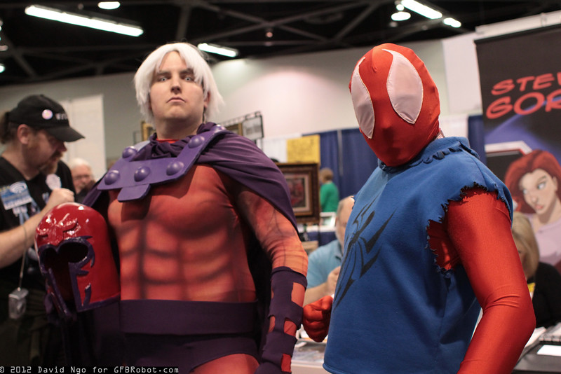Magneto and Scarlet Spider