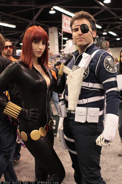 Black Widow and Nick Fury