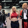 Kyo Kusanagi, Blue Mary, and Rugal Bernstein