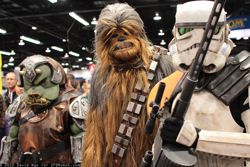 Gamorrean, Chewbacca, and Sandtrooper