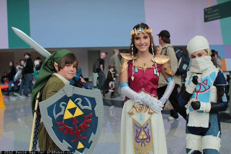 Link, Princess Zelda, and Sheik