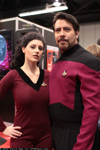 Deanna Troi and William Riker