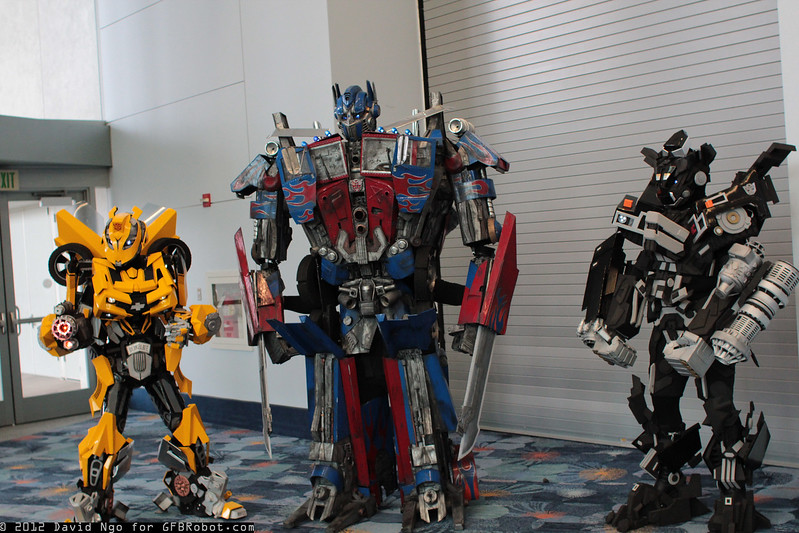 Bumblebee, Optimus Prime, and Ironhide