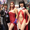 Catwoman, Jessica Rabbit, and Vampirella