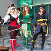 Harley Quinn, Poison Ivy, and Catwoman