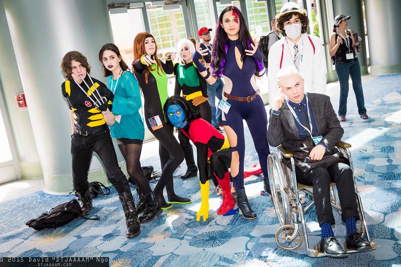 Wolverine, Shadowcat, Jean Grey, Nightcrawler, Rogue, Psylocke, Dr. Nemesis, and Professor X