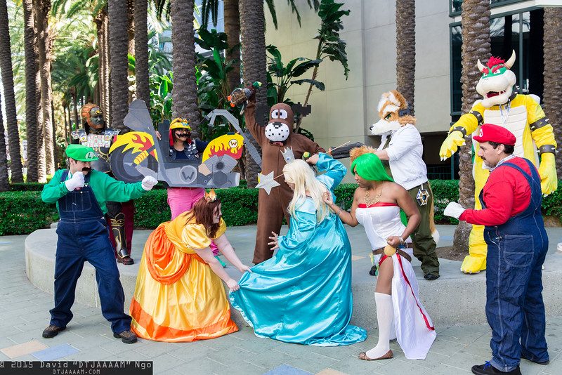 Luigi, Ganondorf, Princess Daisy, Wario, Duck Hunt, Rosalina, Palutena, Fox McCloud, Bowser, and Mario