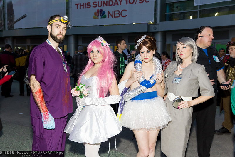 Dr. Algernop Krieger, Krieger's Virtual Girlfriend, Cheryl Tunt, and Malory Archer