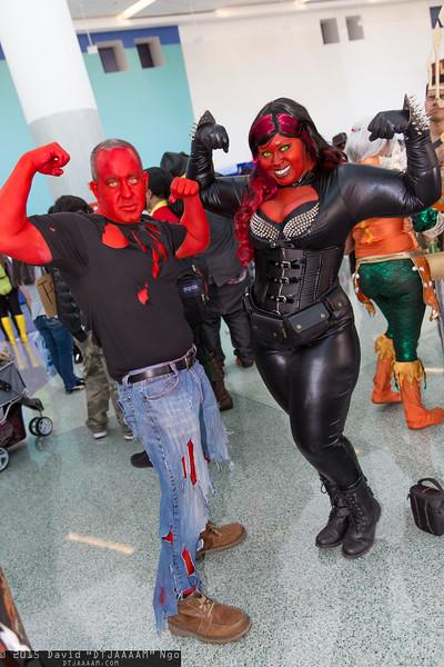 Red Hulk and Red She-Hulk