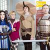 Grey Warden, Sera, Cole, and Alistair