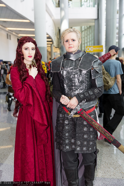 Melisandre and Brienne of Tarth
