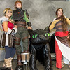 Astrid Hofferson, Hiccup Horrendous Haddock III, Toothless, and Valka