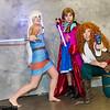 Kida, Anna, and Merida