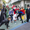 Batman, Selina Kyle, Poison Ivy, Jokers, Harley Quinn, Nightwing, Robin, and Oswald Cobblepot