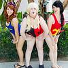 Batgirl, Harley Quinn, and Wonder Girl