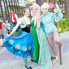 Anna, Elsa, and Jack Frost