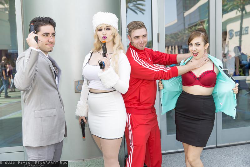 Sterling Archer, Katya Kazanova, Barry Dylan, and Cheryl Tunt