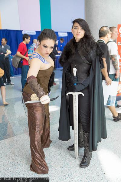 Khal Drogo and Jon Snow