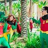 Beast Boy, Starfire, and Robin