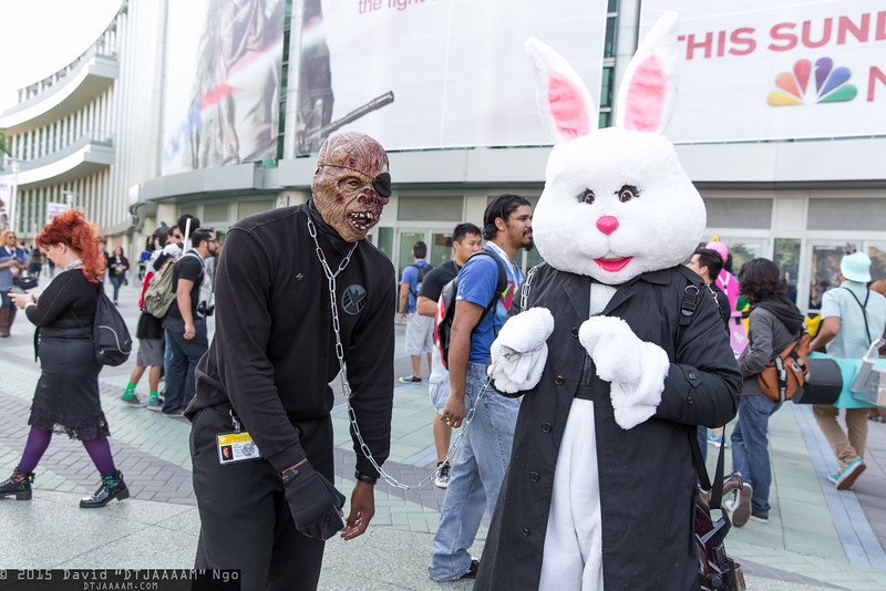 Zombie Nick Fury and Easter Bunny