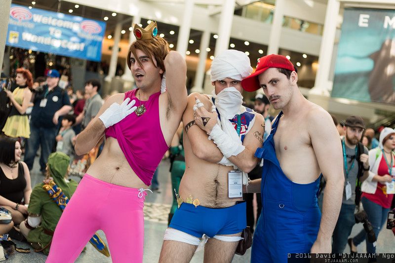 Princess Peach, Sheik, and Mario