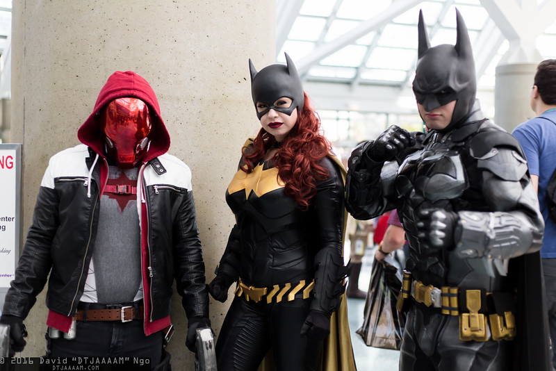 Red Hood, Batgirl, Batman