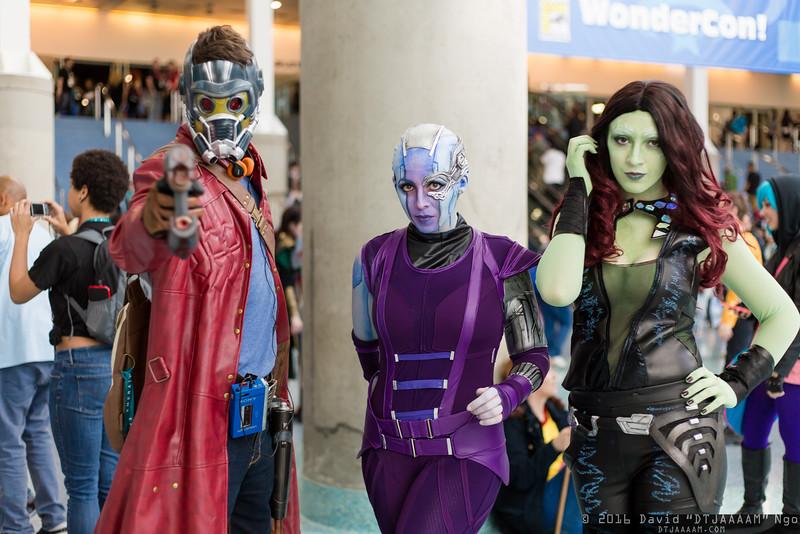 Star-Lord, Nebula, and Gamora