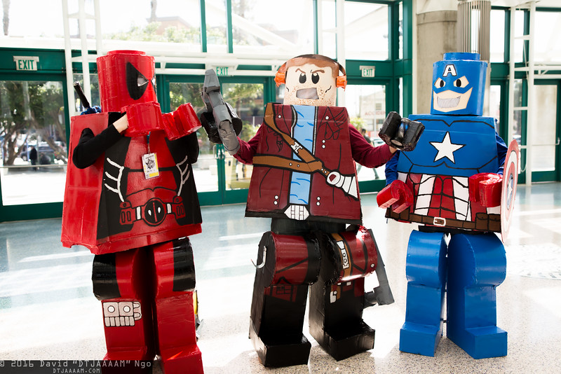 Deadpool, Star-Lord, and Captain America