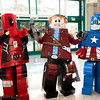 Deadpool, Star-Lord, and Captain America