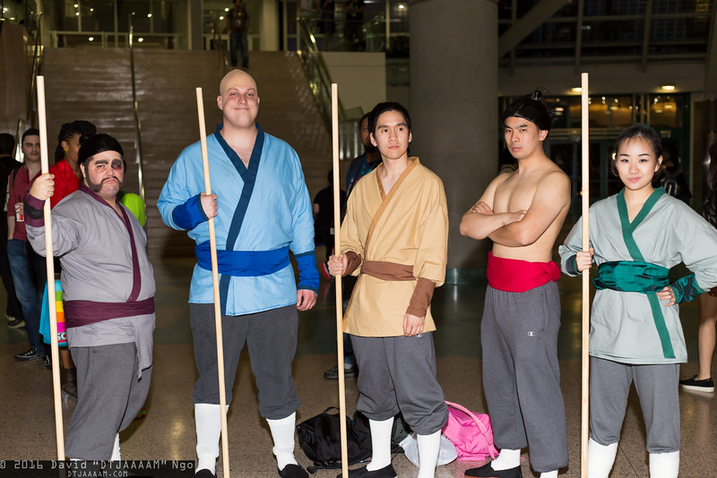 Yao, Chien Po, Ling, Li Shang, and Mulan