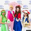 Yoshi, Princess Peach, Mario, and Toad