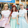 Princess Aurora, Ariel, and Cinderella