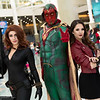 Black Widow, Vision, and Scarlet Witch