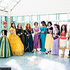 Alice, Anna, Belle, Queen Elinor, Merida, Rapunzel, Princess Jasmine, Snow White, Megara, Moana, Rey, and Finn