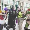 April O'Neil, Bebop, Shredder, Rocksteady, and Raphael