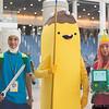 Finn, Banana Guard, and Princess Bubblegum