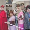 Prince Phillip, Rapunzel, Princess Aurora, and Snow White