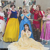 Mary Poppins, Snow White, Cinderella, Belle, Prince Edward, and Rapunzel