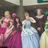 Charlotte La Bouff, Anastasia Tremaine, Cinderella, Lady Tremaine, and Drizella Tremaine