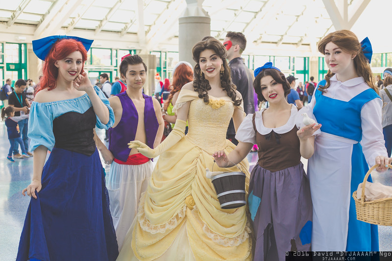 Ariel, Aladdin, Belles, and Snow White