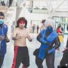 Sub-Zero, Liu Kang, Frost, and Noob Saibot