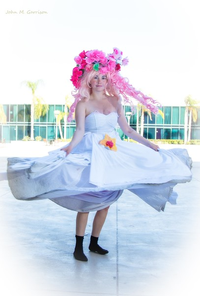 Rose Quartz cosplay from Stephen Universe